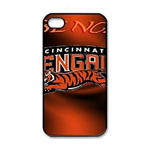 NFL iPhone 4 4s Black Cell Phone Case Cincinnati Bengals PNXTWKHD2801 NFL Generic Clear Phone Case Covers