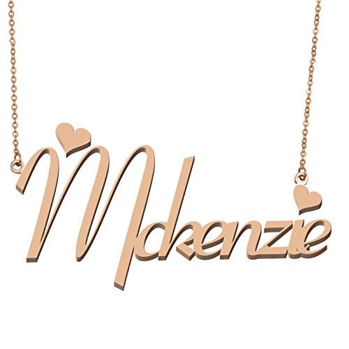 Aoloshow Customized Custom Name Necklace Personalized - Custom Made McKenzie Necklace Initial Monogrammed Gift for Womens Girls - Mckenzie Metal