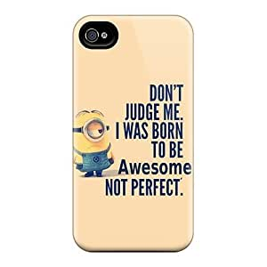 Evanhappy42 Iphone 6plus Hybrid Cases Covers Bumper Minion Born To Be Awesome