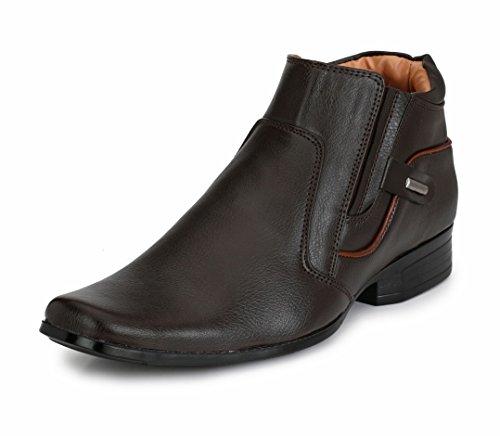 Mactree Men's Premium Mid Top Zipper Formal Shoes 2770