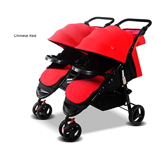 Twin Portable Baby Stroller Contours Curve Tandem Double Stroller, Toddlers Or Twins – 360° Turning, Multiple Seating Options,A