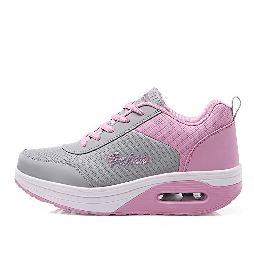 Platform EnllerviiD US M GD Shoes Women Lace B959huifen37 Fitness Comfort B Up Walking Sneakers 6 Pink Running SxaqX15X