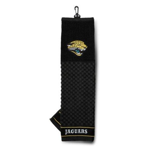 Team Golf NFL Jacksonville Jaguars Embroidered Golf Towel, Checkered Scrubber Design, Embroidered - Jaguar Golf