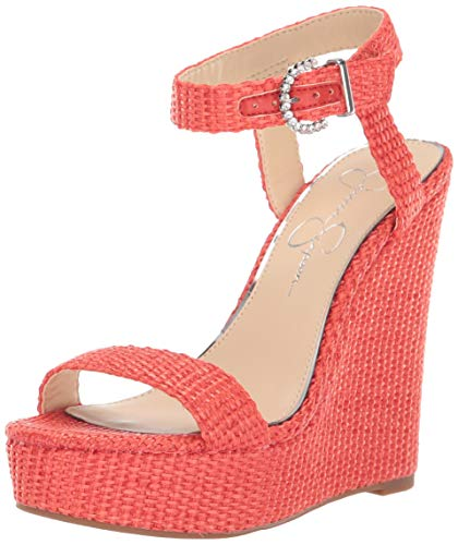 Jessica Simpson Women's TAERY Sandal, Coral, 7 M US from Jessica Simpson