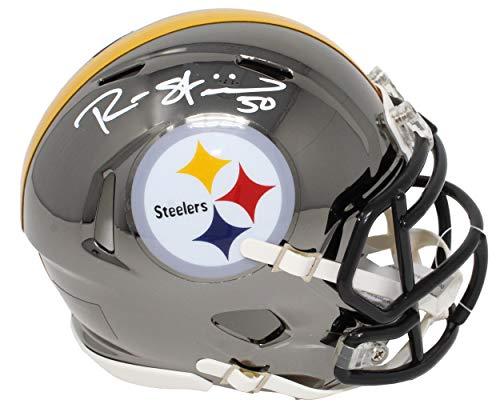 Ryan Shazier Autographed Mini Helmet - Chrome Riddell Speed - Autographed NFL Mini Helmets