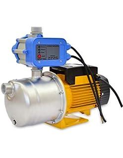 AgoraDirect Bomba de Agua de Superficie 900W INOX con Presostato 80L/Min de Flujo
