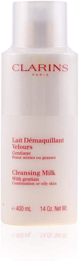 Clarins Anti-pollution Cleansing Milk, Gentian, 13.9 Ounce