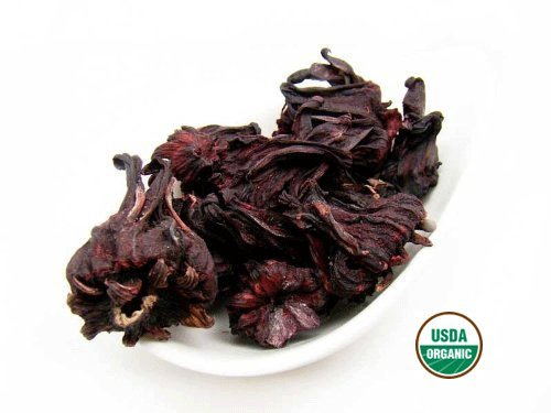 Organic Hibiscus - Premium Loose Flower - by Nature Tea (4 oz)