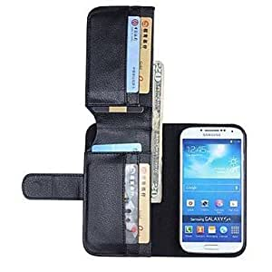 SHOUJIKE NEW Leather Wallet Full Body Cases for SAMSUNG GALAXY S4 I9500(Assorted Colors) , Brown
