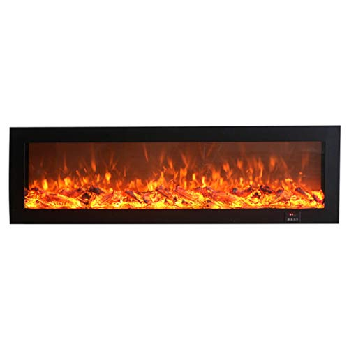 Cheap Liu Weiqin Electric Fireplace - Decorative Electronic Simulation Flame Fireplace Heater Household Electric Fireplace Length 1800 Height 500 Thick 200 Four Colors Optional (Size : Rimless) Black Friday & Cyber Monday 2019