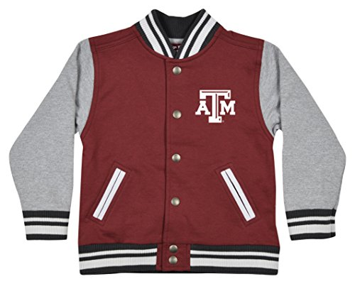 NCAA Texas A&M Aggies Children Unisex Toddler Letterman Jacket, 3 Toddler, Maroon/Oxford ()