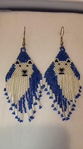Polar Bear beaded delica earrings