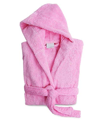 (Caravalli Norwich Robes for Kids - Pink Hood Terry Cotton Robe for Boys & Girls)