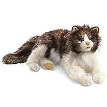 Folkmanis Cat Ragdoll Hand Puppet, Brown