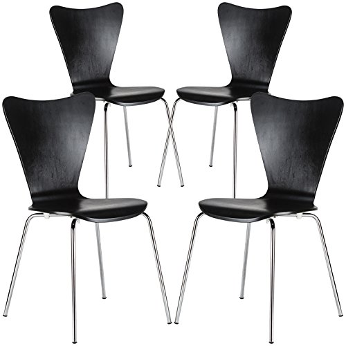 Poly and Bark Elgin Side Chair in Black (Set of 4)