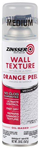Rust-Oleum 202131 Zinsser Wall Texture 20oz, Oil-Based Orange Peel Medium