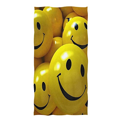 Beach Towel Emoji Face Wallpaper Beach Blanket Towel 74 x 37 Inch for Travel Pool Swimming Bath Camping Yoga Gym Sports ()