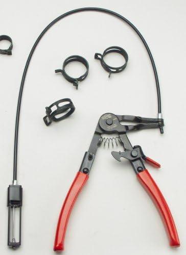 rojo Alicates de punta curvada de 150 mm herramienta para extracci/ón de clips en C para la fabricaci/ón de veh/ículos y la industria de maquinaria BE-TOOL