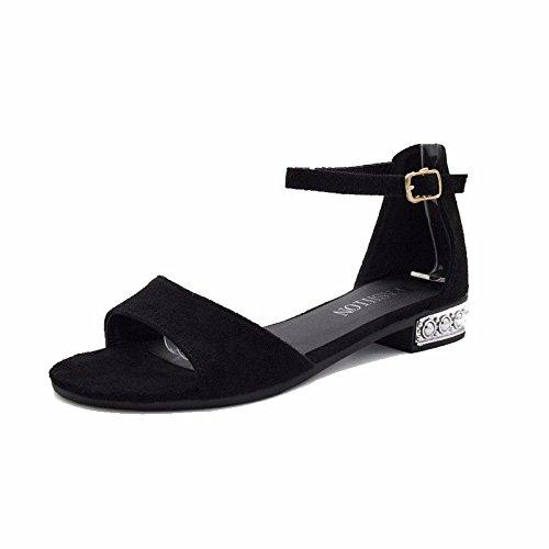 BTBTAV Señoras Sandalias con Baja Dew-Toe Antiresbaladiza Calzado Mujer Er 39 Er 37