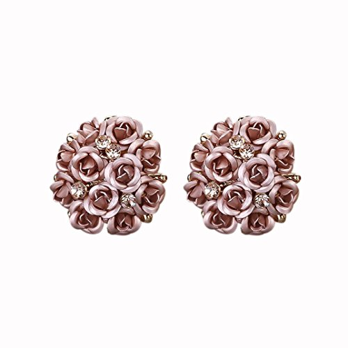 Women Jewelry ,AIMTOPPY Fashion Bohemia Flower Rhinestone Earrings For Women Summer Style (coffee, free)