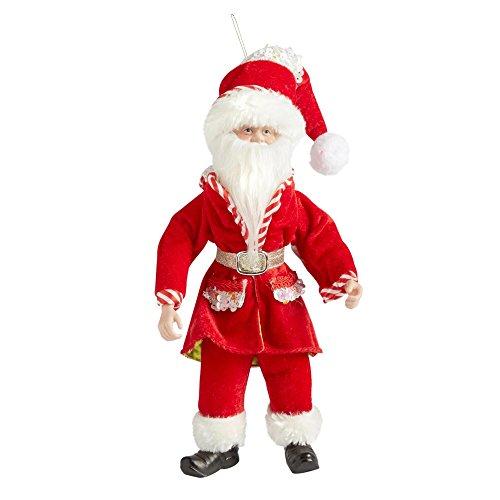 (14 inch Elf Poseable Ornament Santa Mrs. Claus Scrooge Sequin)