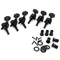 6R Right Electric Guitar String Tuning Pegs Keys Tuners For Strat Tele Black