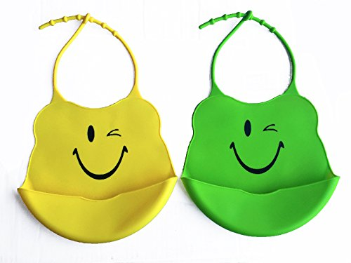 Winky Face Silicone Baby Bibs product image