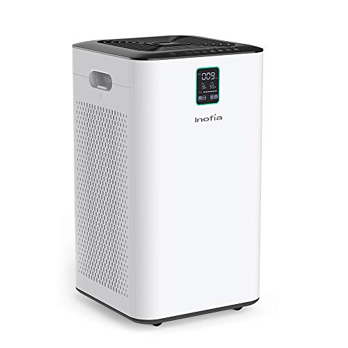 Inofia Air Purifier with True HEPA Air Filter, Wi-Fi Intelligent Control, Air Cleaner for Large Room, for Spaces Up to 1056 Sq Ft, Perfect for Home/Office with 2 - Control Purifier Air Smoke