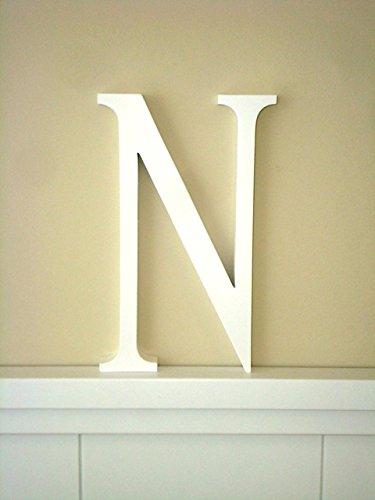 Letra N .Letras decoración Grandes. Letras lacadas blancas. Altura ...
