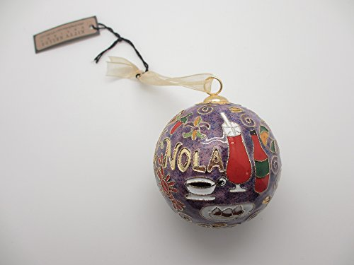 NOLA Food New Orleans Cloisonne Collectible Christmas - Cloisonne Coffee