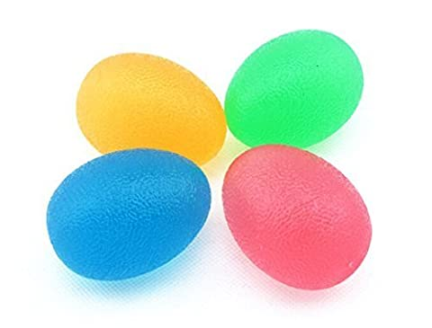 Homerun 2 Pcs Soft Hand Therapy Stress Relief Exerciser Squeeze Health Restore Egg Ball