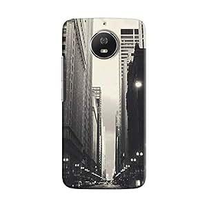 Cover It Up - City Street BW Moto G5s Hard Case