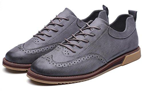 Uomini di CSDM Nuovi sport di svago i pattini di affari Nuovi scarpe casuali intagliate della molla di modo , grey , 42