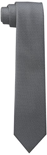 Wembley Big Boys Standard Solid Tie, Charcoal, One Size