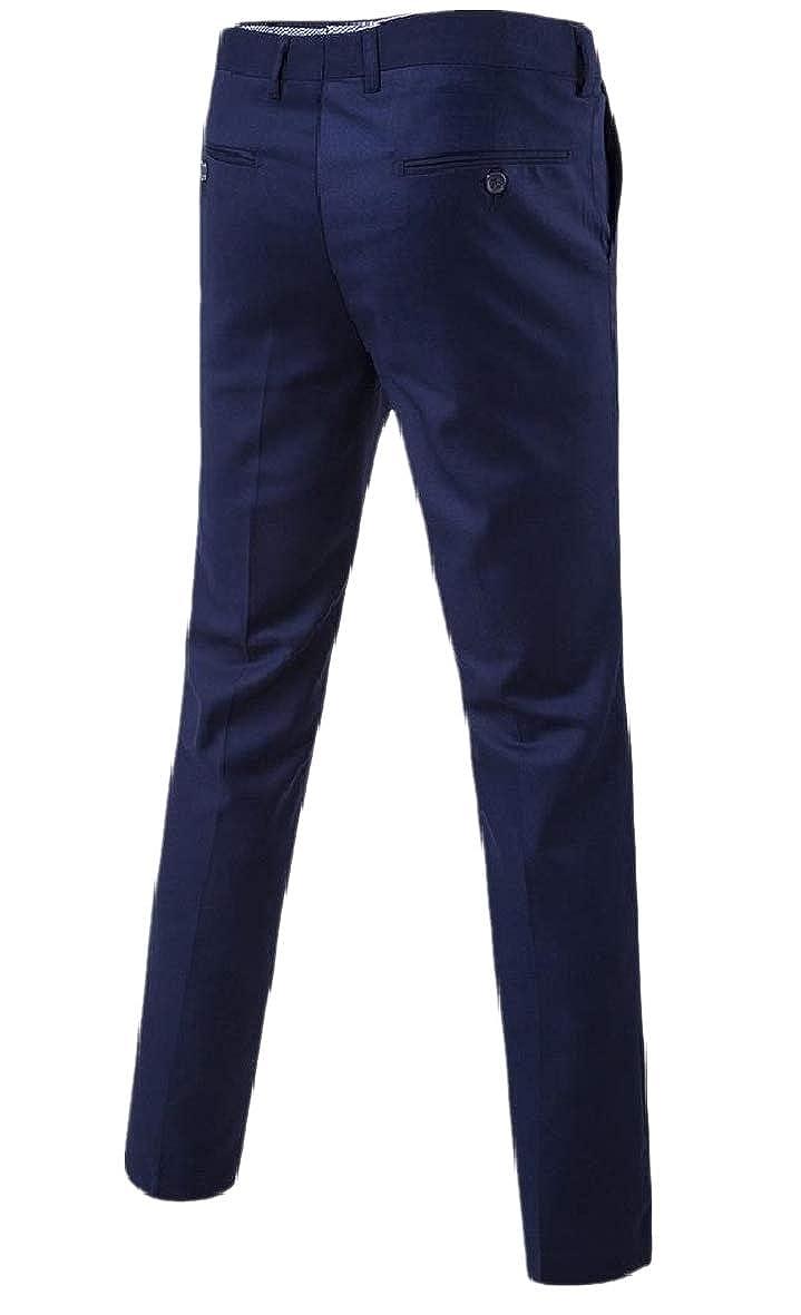 Tootless-Men Work Pant Work Business Skinny Fashion Plain Front Pant