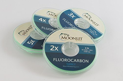 Fluorocarbon Fly Fishing Tippet (3 Pack) (6X, 5X, 4X) ()
