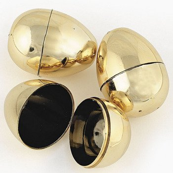 Fun Express Golden Metallic Easter Eggs - 12 Piece Pack
