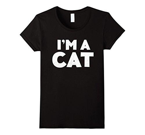 Scary Cat Costume Ideas (Womens I'm A Cat T-Shirt Halloween Costume Shirt Large Black)
