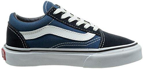 Vans OLD SKOOL - zapatilla deportiva de lona infantil azul - Blau (Navy/True White NWD)