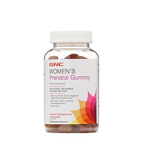 GNC Womens Prenatal Gummy - Lemon and Raspberry Lemonade