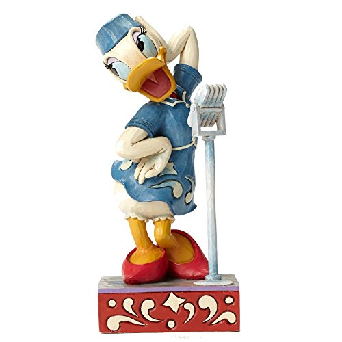 Daisy Duck Figurine - Enesco Jim Shore Disney Swinging Melody Daisy Duck Singer Music Figurine 4050386 New