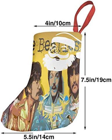 クリスマスの日の靴下 (ソックス3個)クリスマスデコレーションソックス 音楽ビートルズThe Beatles クリスマス、ハロウィン 家庭用、ショッピングモール用、お祝いの雰囲気を加える 人気を高める、販売、プロモーション、年次式