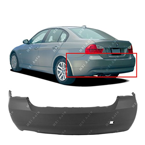 MBI AUTO Primered, Rear Bumper Cover for 2006-2008 BMW 323 325 328 330 Sedan 3 Series 06-08, BM1100164