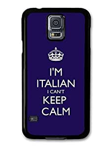 AMAF ? Accessories I'm Italian I Can't Keep Calm Italy Keep Calm Funny case for Samsung Galaxy S5