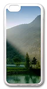 iphone 6 plus 5.5inch CaseLake And Trees On The Valley TPU Custom iphone 6 plus 5.5inch Case Cover Transparent