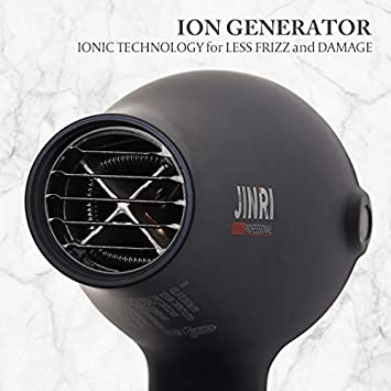 Hair Dryer,Blow Dryer,JINRI 1875W for Professional Salon, Negative Ionic Low Noise with Diffuser,Concentrator Comb,ETL Certified Black