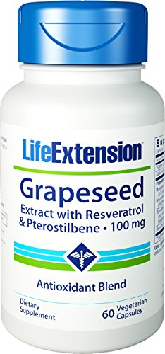 Life Extension - Grapeseed Extract With Resveratrol & Pterostilbene - 100 Mg - 60 Vcaps (Pack of 6) by Life Extension