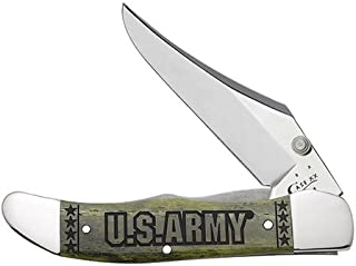product image for CASE XX WR Pocket Knife 15005 U.S. Army Olive Green Smooth Bone Mid-Folding Hunter W/Clip