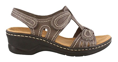 Lexi Women's Clarks Leather Grey 5 N Walnut US Sandal 7 TTUwnrFxq