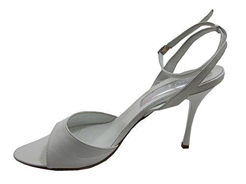 Dyva Designer 19947 Kvinna Italienskt Läder Öppen Tå Rem Mitten Hälen Sandal